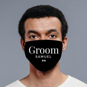 Personalised Face Covering - Groom