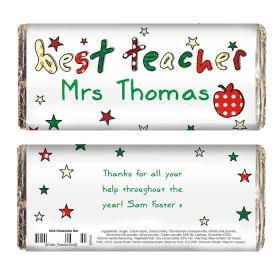 Best Teacher Personalised Chocolate Bar