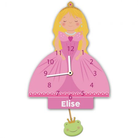 Princess Personalised Pendulum Wall Clock