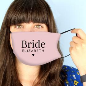 Personalised Face Covering - Bride