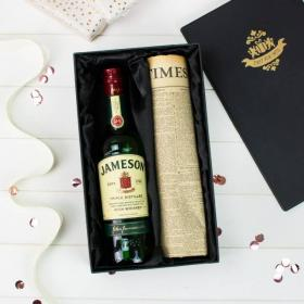 Jameson Irish Whiskey and Original Newspaper with Gift Box