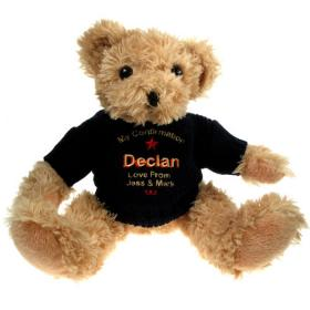 Confirmation Personalised Teddy Bear - Blue Jumper
