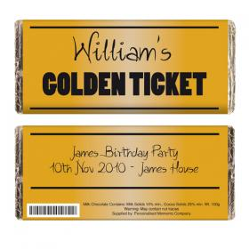 Golden Ticket Personalised Chocolate Bar