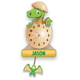 Dinosaur Personalised Pendulum Wall Clock