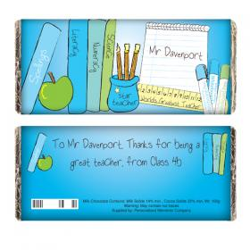 Teacher Personalised Chocolate Bar - Male Teacher