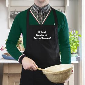 Chef Personalised Message for Him Apron - Black