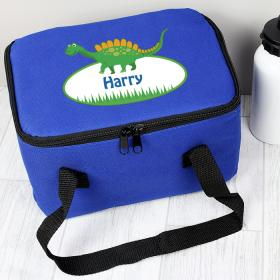 Dinosaur Personalised Lunch Bag - Blue