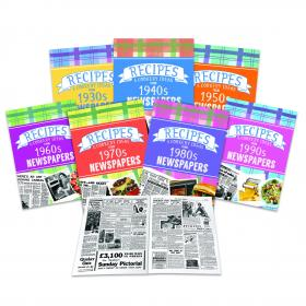 Decade Personalised Recipe Newspaper Softback Book