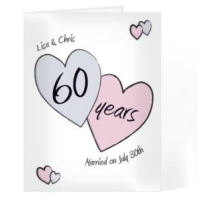 Anniversary Personalised Card - Perfect Love 60th Diamond