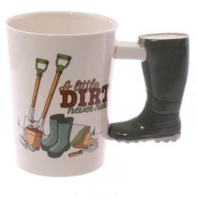 Boot Shaped Handle Ceramic Garden Mug