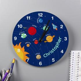 Solar System Personalised Space Clock