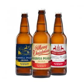 Christmas Personalised Craft Beer - Pack of 3