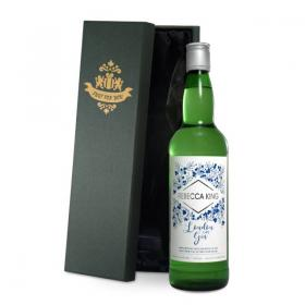 Gin Personalised Modern Label & Gift Box