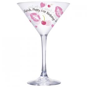 Cocktail Personalised Glass - Lips & Cherry