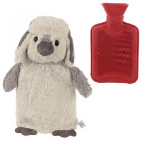 Penguin Plush Hot Water Bottle and Cover
