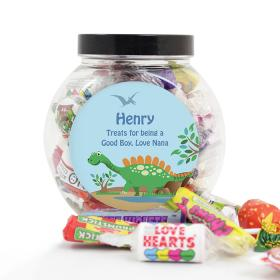 Dinosaur Sweet Personalised Jar