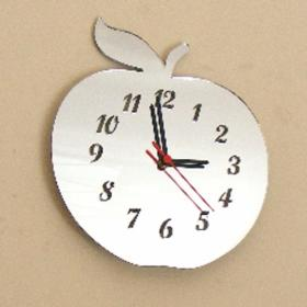 Apple Clock Mirror - 35cm