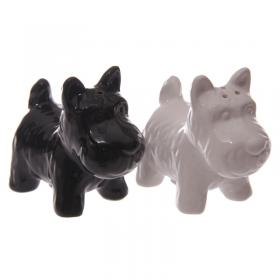 Dog Scottie Salt & Pepper Set - Black & White