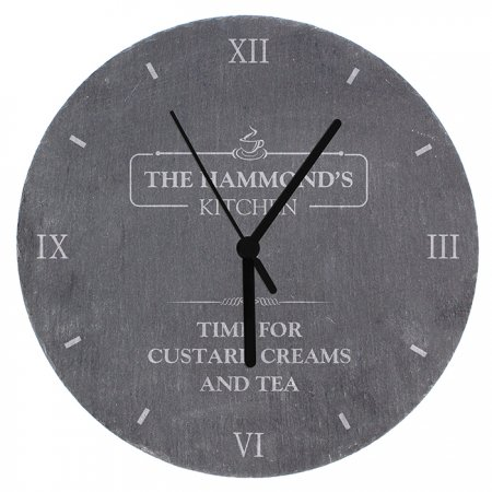 Kitchen Personalised Slate Clock