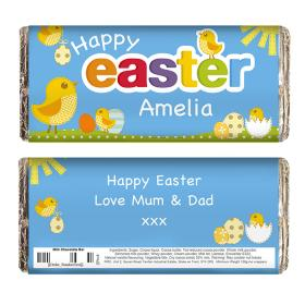 Easter Chicks Personalised Chocolate Bar