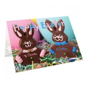 Bunny Personalised Message Card - Hoppy Easter