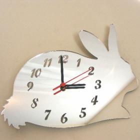 Rabbit Clock Mirror - 35cm