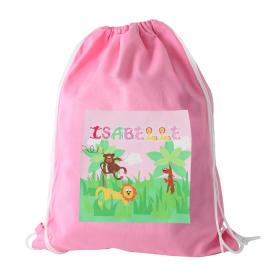 Animal Alphabet Personalised Girl's Kit Bag - Pink