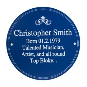 Heritage Personalised Plaque - Blue