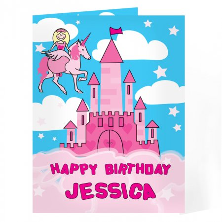 Princess Personalised Message Card