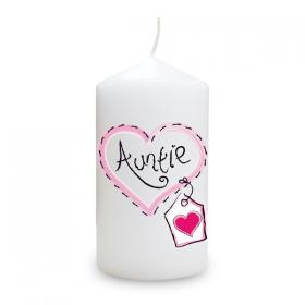 Auntie Heart Stitch Candle