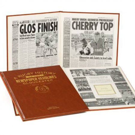 Rugby Newspaper History of Gloucester Personalised Book