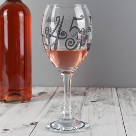 Fabulous Numbers Personalised Red Wine Glass