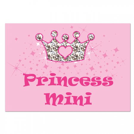 Pet Personalised Princess Food Mat - Pink