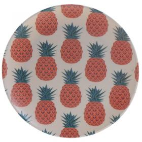 Pineapple Design Bambootique Eco Friendly Plate