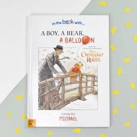 Christopher Robin a Boy a Bear a Balloon Personalised DisneyBook