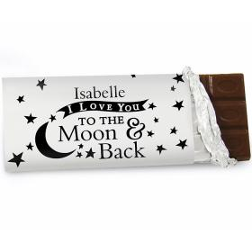 To the Moon and Back Personalised Chocolate Bar