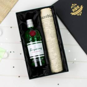 Tanqueray Gin and Original Newspaper with Gift Box