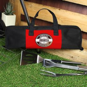 BBQ Stainless Steel Set and Personalised Carrying Case - Stamp