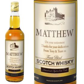 Whisky with Castle Personalised Label & Gift Box