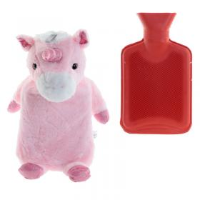 Unicorn Plush Hot Water Bottle and Cover
