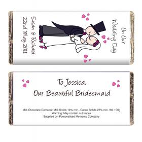 Wedding Couple Personalised Chocolate Bar