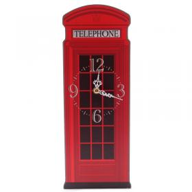 London Telephone Box Picture Wall Clock