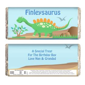 Dinosaur Personalised Chocolate Bar