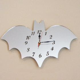 Bat Clock Mirror - 40cm