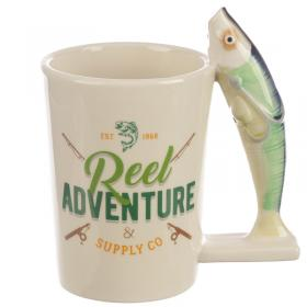 Fish Shaped Handle Ceramic Mug