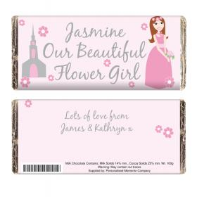Flower Girl Personalised Chocolate Bar