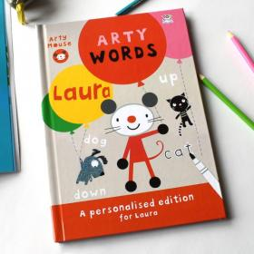Arty Mouse Words Personalised Activity Book