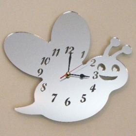 Bee Clock Mirror - 35cm