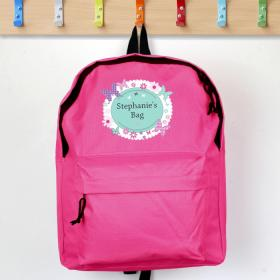 Butterfly Personalised Backpack - Pink
