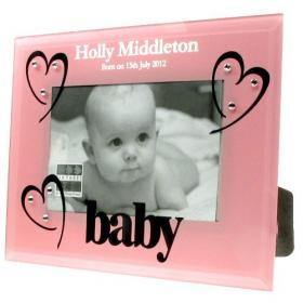 1st Birthday Personalised Photo Frame - Pink